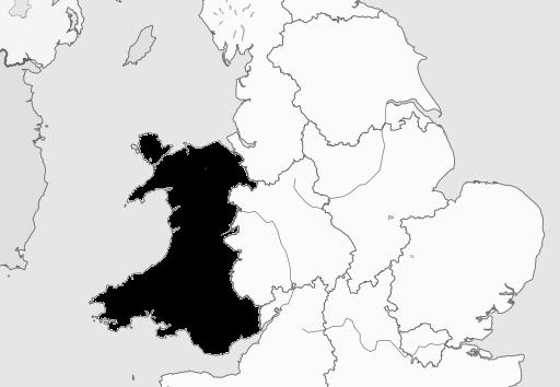 Map of Wales Region